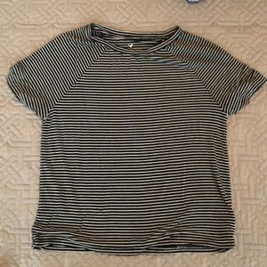 Slightly cropped stripped tee